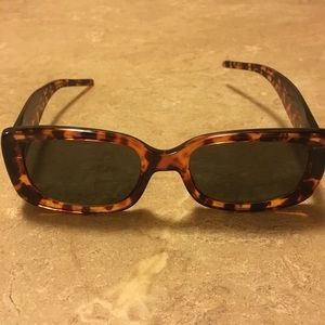 Halston Tortoise Shell Framed Sunglasses